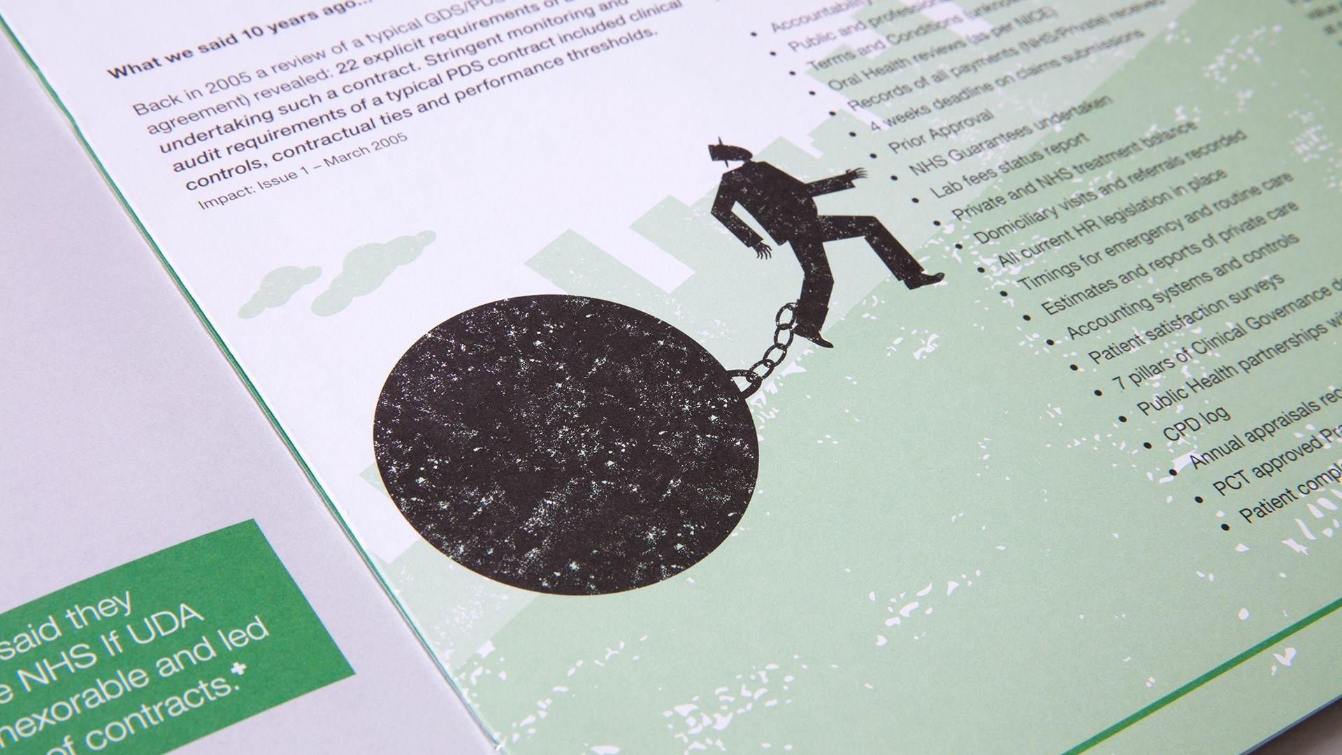 Denplan If Campaign showing illustration detail