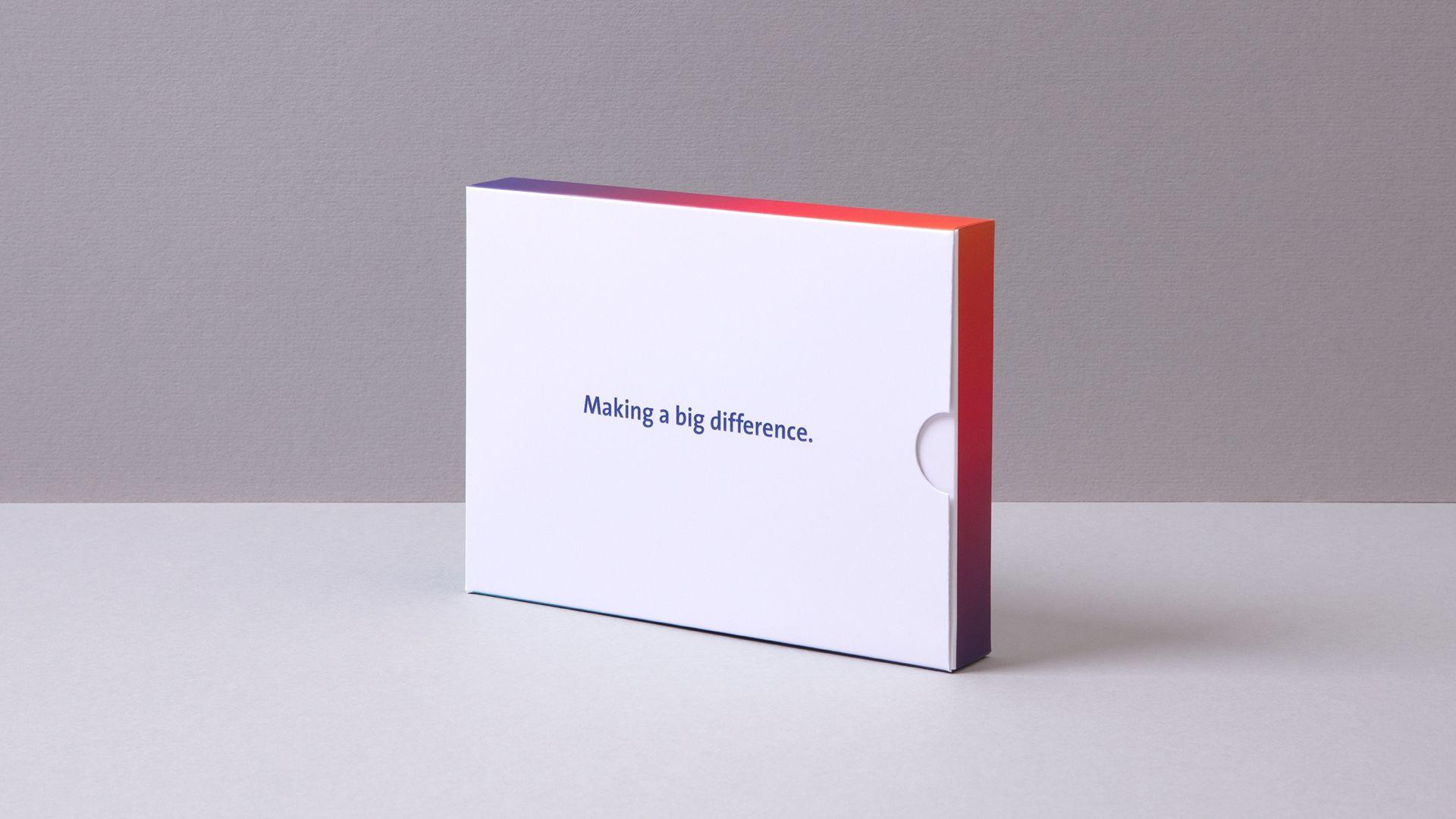 Saint Gobain Internal Communications Cards Packaging Box Design