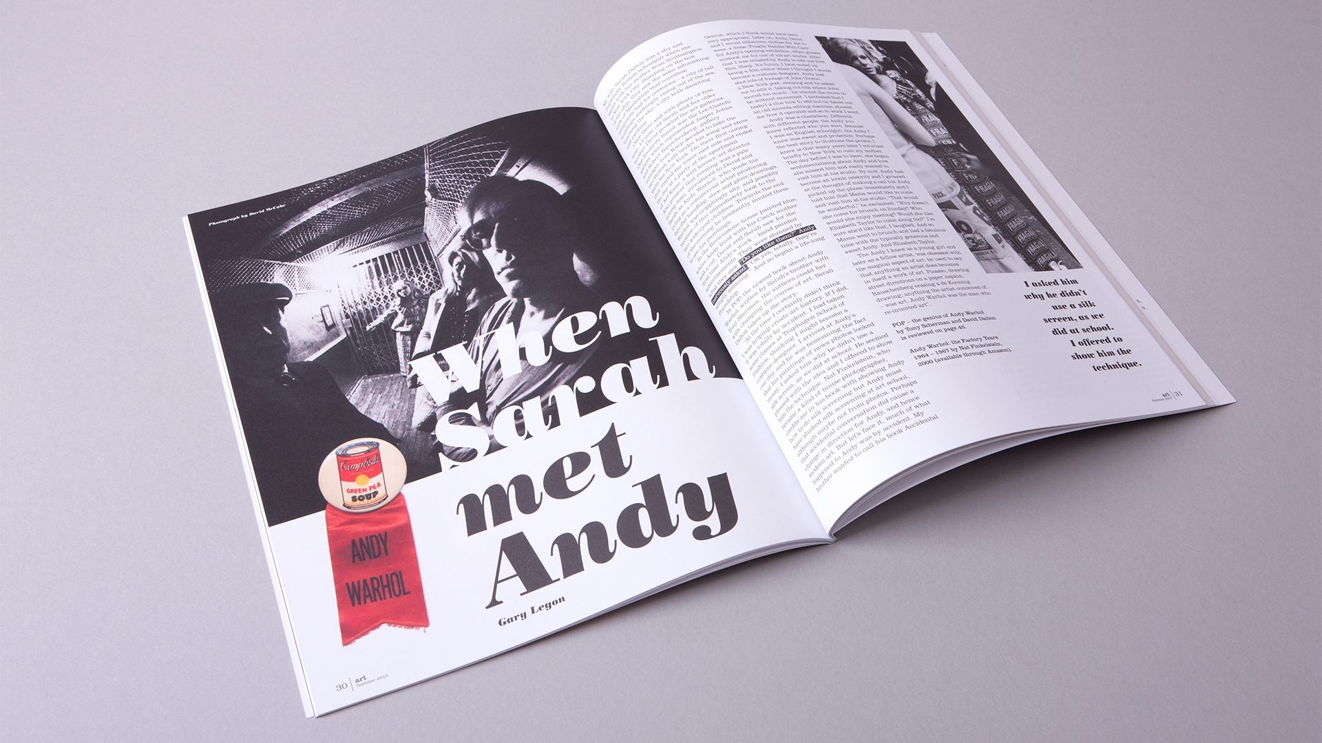 Royal West of England Academy  Art Magazine Spread showing Andy Warhol
