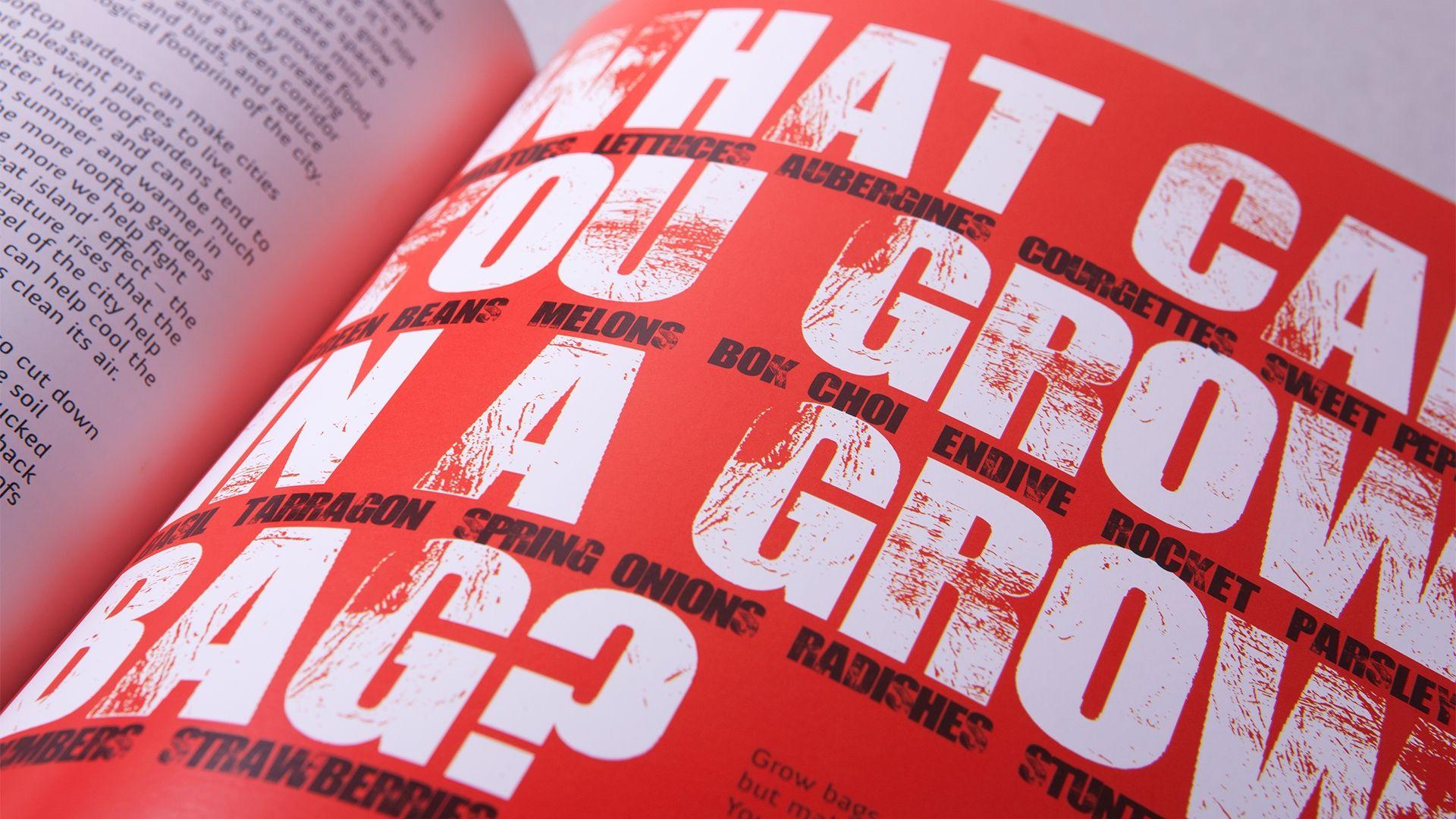 Soil Association Stuffed Book Typeface Detail