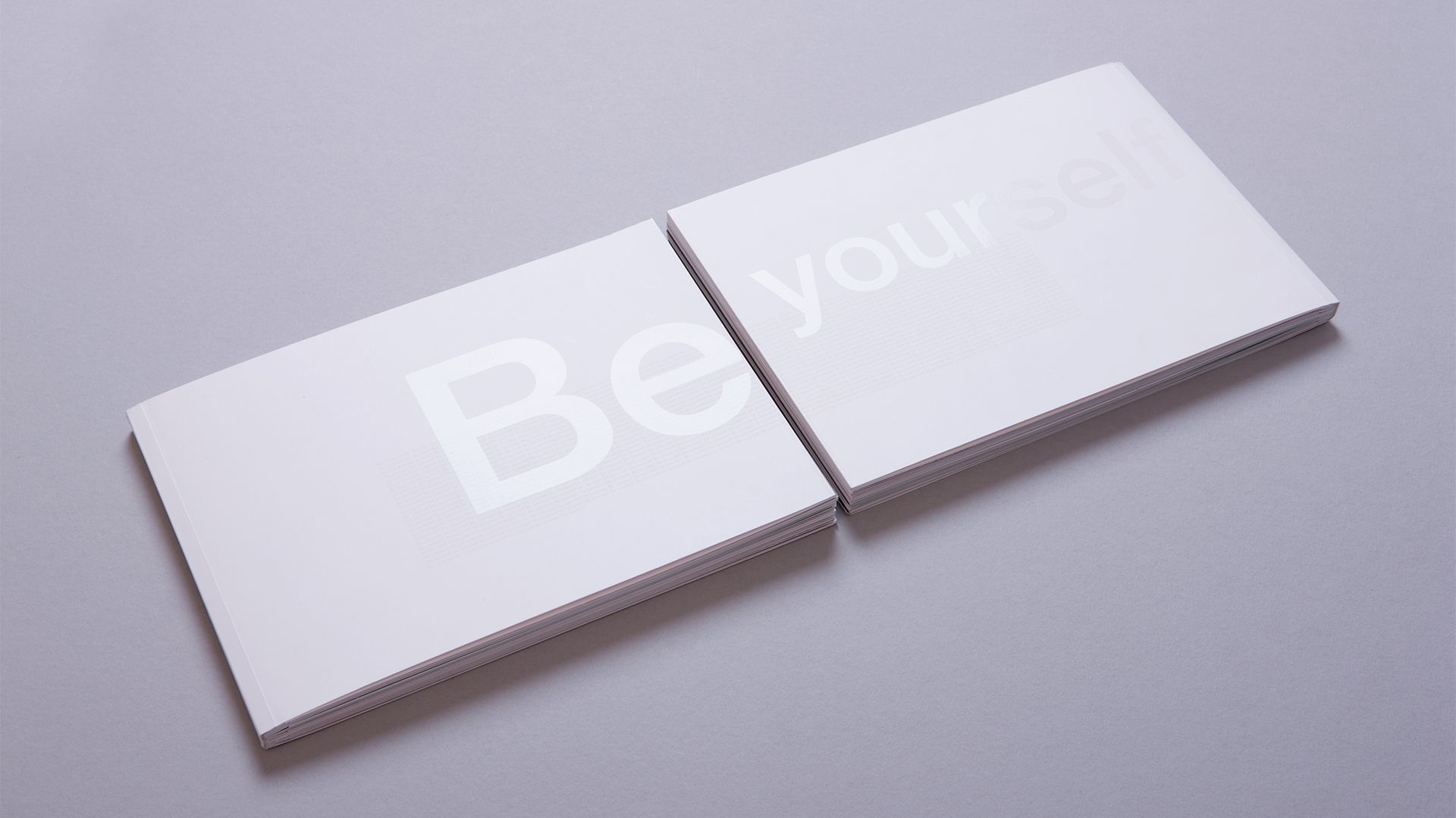 Simplyhealth Be Yourself Book Cover showing Spot Gloss Print