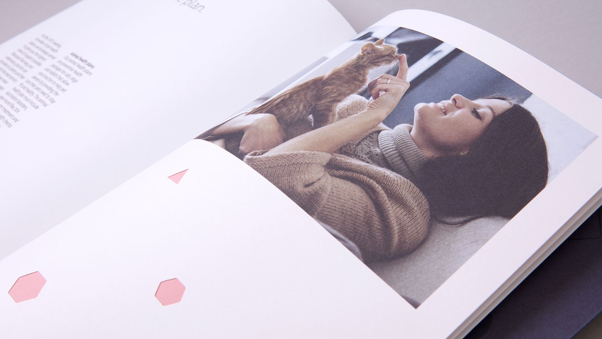 Simplyhealth Professionals Brochure Design showing Die-Cut Details and Art Directed Photography